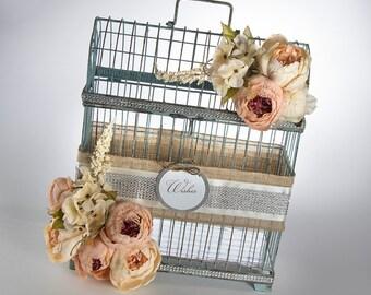 Card Holder - Wedding Decor - Rustic Wedding - Vintage Wedding - Garden Wedding - Wedding Card Holder - Birdcage Card Holder