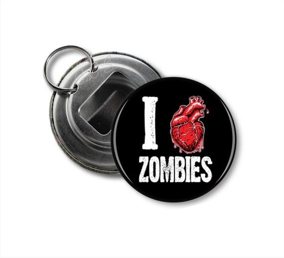 i heart zombies bottle opener keychain by cassiescoastershop. Black Bedroom Furniture Sets. Home Design Ideas