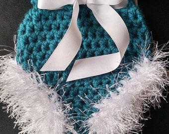 Crocheted Diaper Cover and Leg Warmers