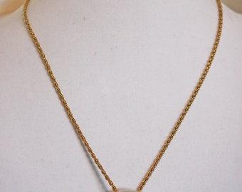 Large Seashell Disk Pendant Necklace