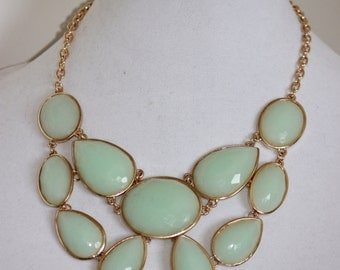 Very Pretty Pistachio Pudding Green Statement Necklace