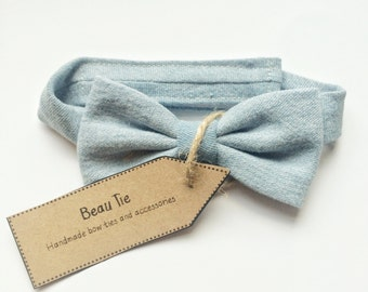 Baby boys bow tie, denim bow tie, blue bow tie, boys bow tie, baby shower gift