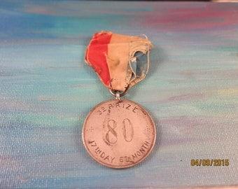 1880 3rd Prize Medal 6-17-1880