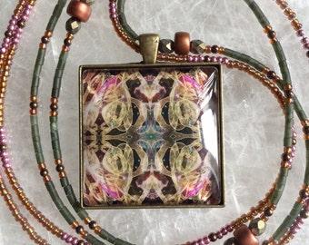 Custom beaded energy art pendant- Skt Dancer