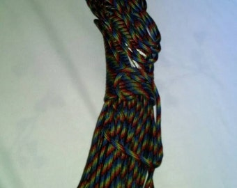100 ft Dark Rainbow 550 test strength Paracord USA Made