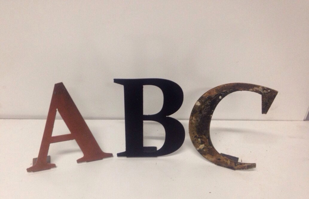 custom 6 inch metal letters and numbers by With 6 inch brass letters