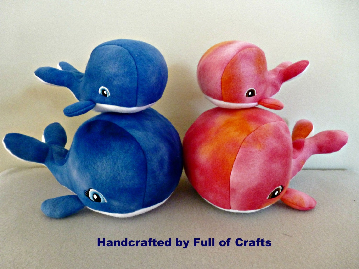 Whale Stuffed Animal Set Made In Usa Mom And Baby Whale