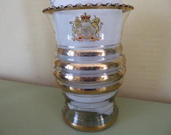 stunning glass coronation vase, god bless her.