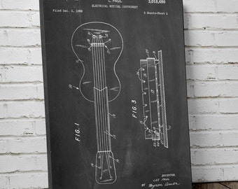 Gibson Les Paul Canvas Art, Electric Guitar, Guitar Canvas, Rock and Roll Art, Canvas Wall Decor, PP0140