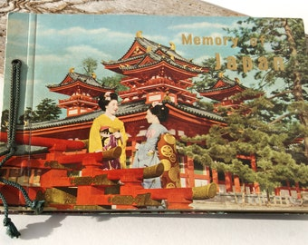 "Vintage Book, ""Memory of Japan,"" Tourist Souvenir Book"