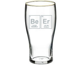 BeEr Elements Pint Glass