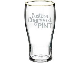 Custom Engraved Pint Glass