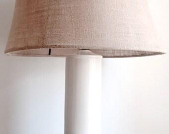 White Midcentury Table Lamp