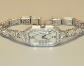 14K White Gold Diamond Wristwatch
