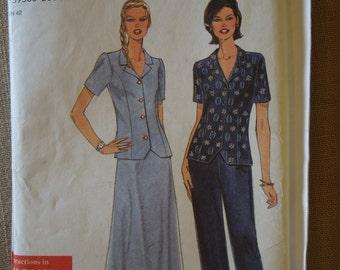 Simplicity 7780, sizes 8-18, petite, UNCUT sewing pattern, craft supplies, misses, womens, teens, top, skirt, pants