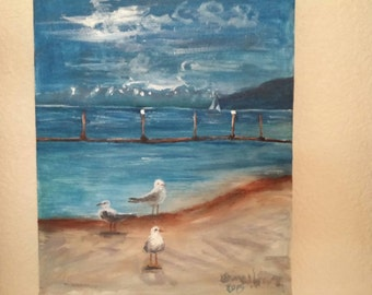 Sandpoint city beach seagulls