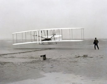 The Wright Brothers at Kitty Hawk Historic 1903 Photo Reproduction Early Aviation