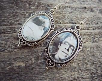 Frankenstein and Bride of Frankenstein Cameo Earrings