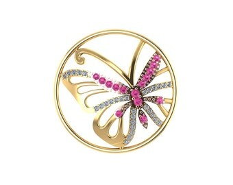 Butterfly pendant 9ct gold