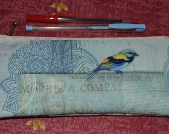 back to school/Pencil case/Pencil pouch/Make-up pouch/Fabric pouch/ medications pouch, Pouch for travel/tissu pouch /pouch