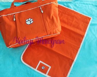 Clemson Diaper Bag - Clemson Totes - Clemson Baby - Diaper Bag Personalized - Clemson Baby Girl - Clemson Baby Boy - Clemson Tigers Baby