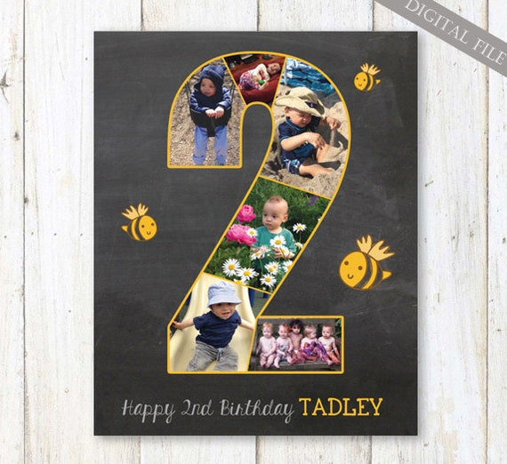 Bee birthday party decoration second birthday chalkboard for 2nd birthday party decoration