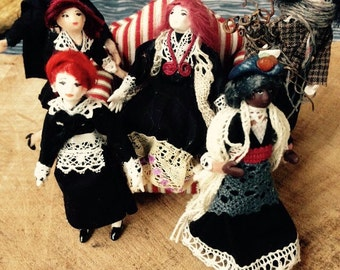 Four retro dolls RESERVED listing