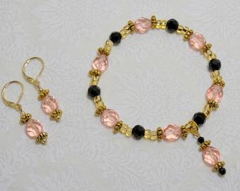 "2 Piece Jewelry Set ""Pink Dancer"" (Item 3009)"