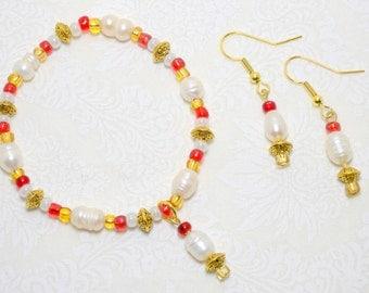 """2 Piece Jewelry Set """"Pearl Bay"""" (Item 3004)"""