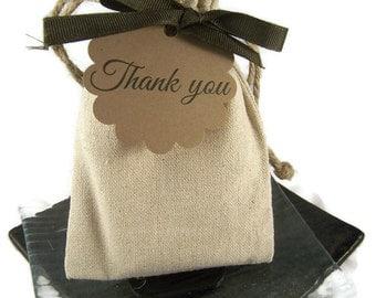 Natural Linen Bag / Wedding Favor/ Bridal Shower Favor/ Baby Shower/ Party Favor 100% Natural Vegan Soap
