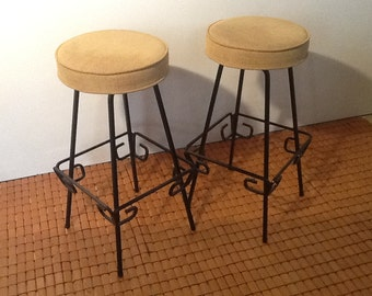 Pair of Mid Century Modern Bar Stools