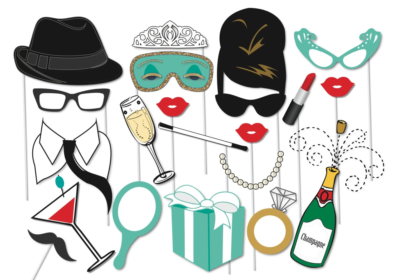 Breakfast At Tiffany S Party Props Set 20 Piece