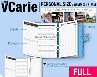 FULL [PERSONAL vCarie Weekly Planner] January to December 2018 -Filofax Inserts Refills Printable Binder Planner Midori.