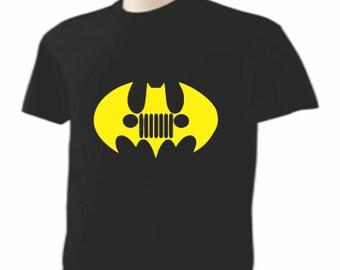 """Batman """"Jeep Grill'  Mens TALL 2XL Shirt"""