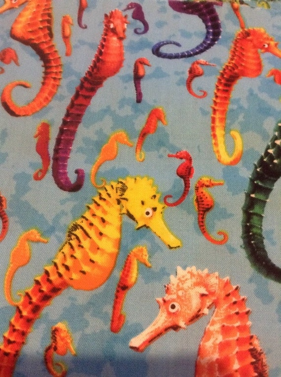 Seahorse Fabric 2 Yards By Timeless Treasures