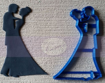 Custom cookie cutter for Couple dancing  4 inch