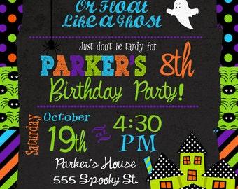 Halloween Party Invitation Kids Halloween Birthday Party Invitation
