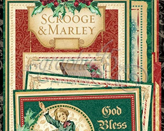 Graphic 45 A Christmas Carol Ephemera Cards