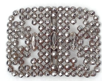Steel Cut Antique French Victorian Buckle - Authentic Antique 1800s - DAZZLING!