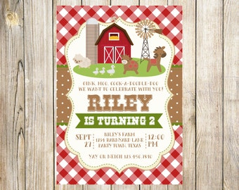 Red Farm Birthday Invitation