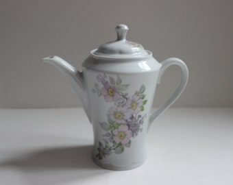 Jaeger Bavaria PMR , Pink and green floral teapot, Barvaria Germany