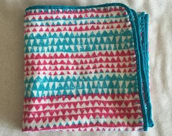 Crochet Edge Flannel Baby Blanket