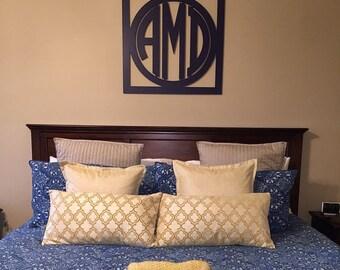 Wooden Monogram Wall Decor -Circular Monogram Font -EXTRA LARGE Wood  Monogram- Wedding Monogram- Nursery Decor- Home Decor