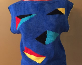 Short sleeve 80's sweater