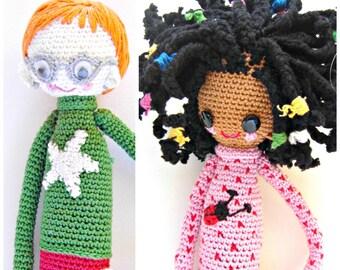 2- Crochet Pattern Special Deal, Buy the Crochet Doll Desireè Pattern and the Crochet Doll Henry Pattern for Euro 10.00, crochet pattern