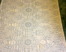 Rectangle Lace Tablecloth, Maze Off White 56 x 86 inches