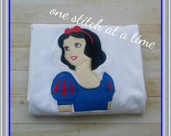 Snow White Applique Shirt