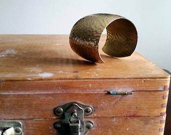 Hammered Brass Cuff/ Adjustable