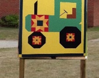 Adorable tractor barn quilt!