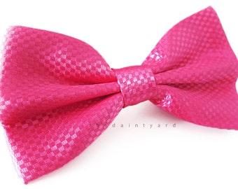 Classy Fuchsia Bow Tie Men Adult Groomsmen